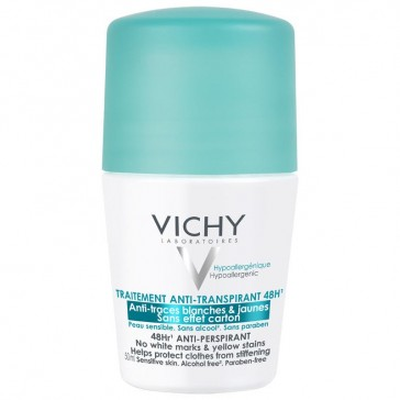 Vichy 48hr Anti-Perspirant Roll On - No White Marks and Yellow Stains 50ml