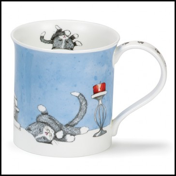 Dunoon Mug - Bute Shape - Contented Cats