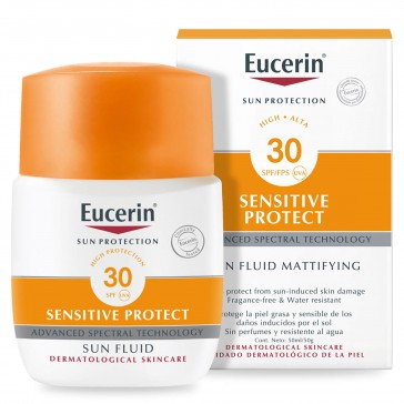 Eucerin Sun Protection Sensitive Protect Sun Fluid Mattifying SPF30+ 50ml