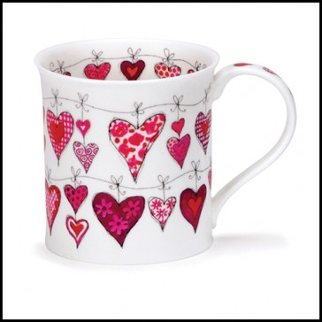 Dunoon Mug - Bute Shape - Heartstrings