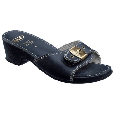 Scholl Leather Look Sandals High - Navy