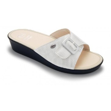 Scholl Memory Cushion Mango Sandals White