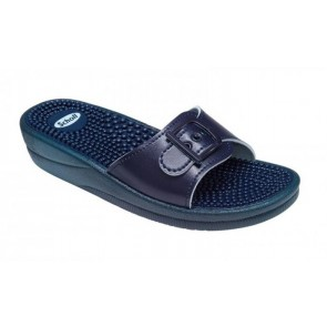 Scholl New Massage Fitness Sandals Navy Blue
