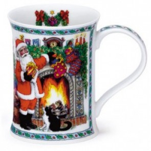 Dunoon Mug - Cotswold Shape - It's Christmas - Santa with Fireplace
