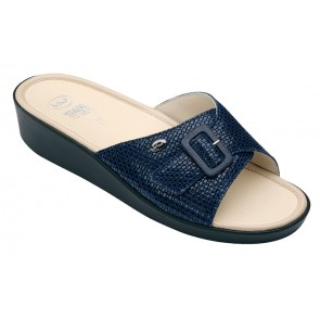 Scholl Mango Memory Cushion Sandals - Navy Blue
