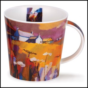 Dunoon Mug - Cairngorm Shape - Red Skies