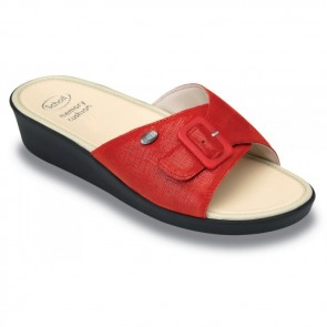 Scholl Mango Memory Cushion Sandals - Red