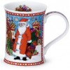 Dunoon Mug - Cotswold Shape - It's Christmas - Santa with Snowflakes
